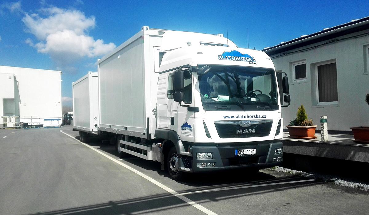Autodoprava Zlaté Hory - kamión MAN